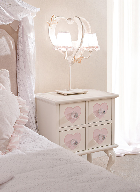 <strong>1521D</strong> 4-drawer nightstand decoration with PS04 small clear ball knob