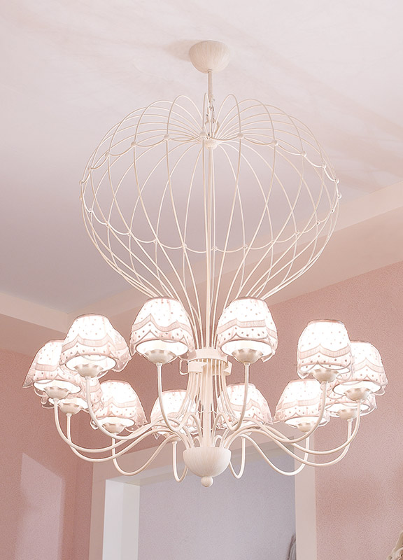 <strong>2039</strong> hot air balloon chandelier, 12 lights