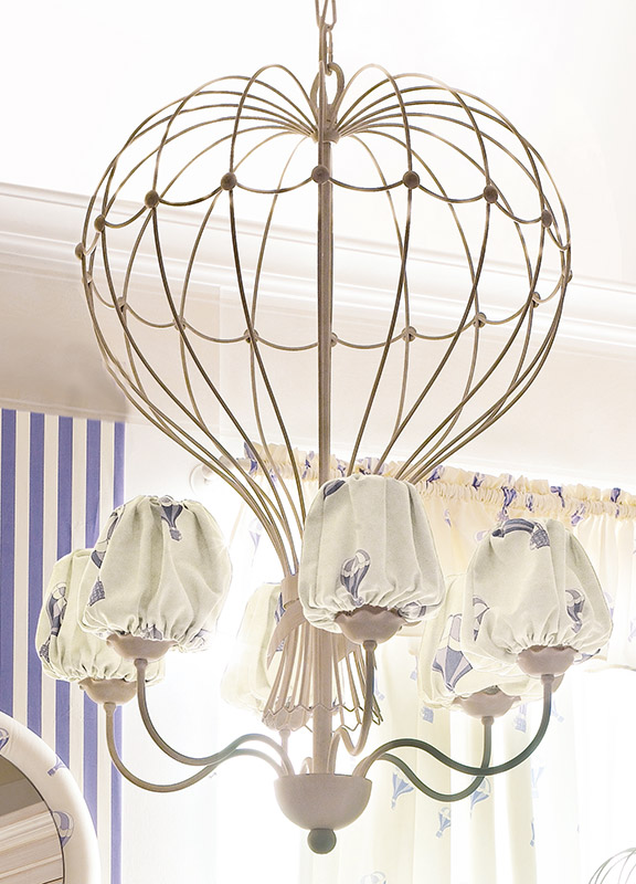 <strong>2040</strong> hot air balloon chandelier, 6 lights