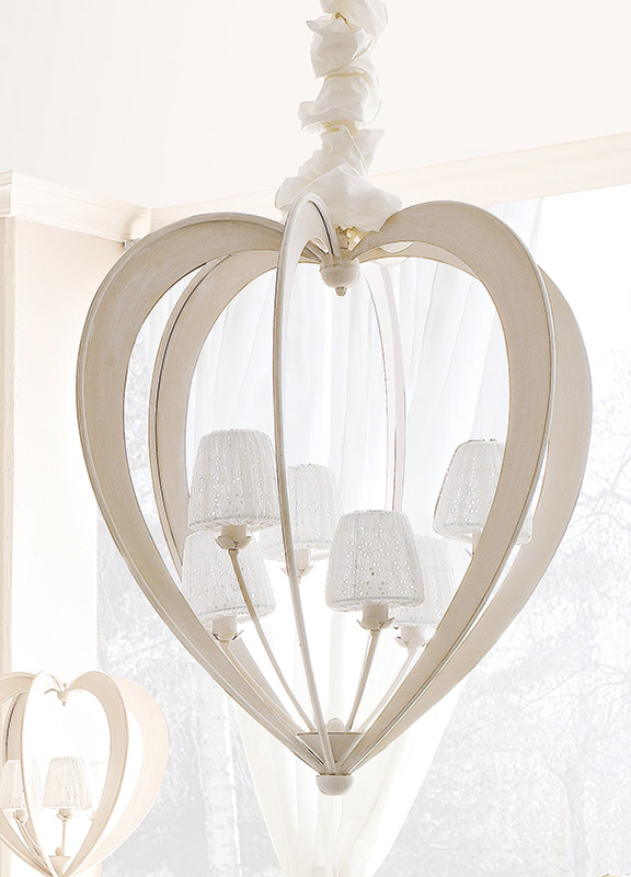 <strong>2139</strong> heart chandelier, 6 lights