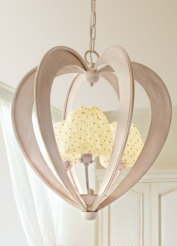 <strong>2141</strong> heart chandelier, 3 lights