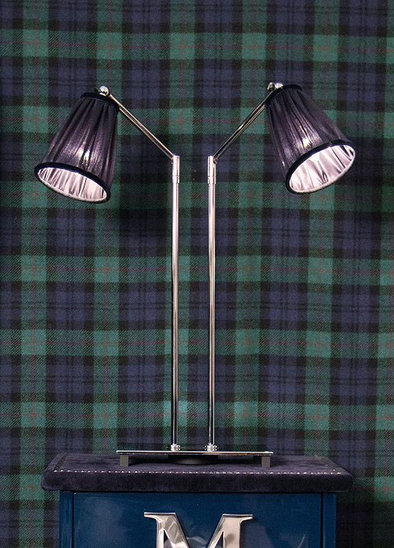 <strong>2060</strong> articulated lamp with 2 stands, chrome finish 