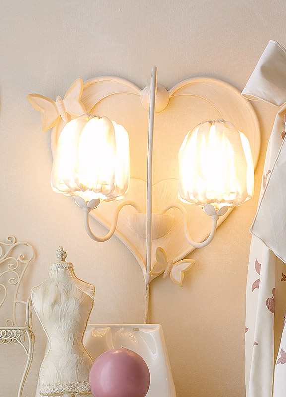 <strong>2138</strong> heart sconce, 2 lights