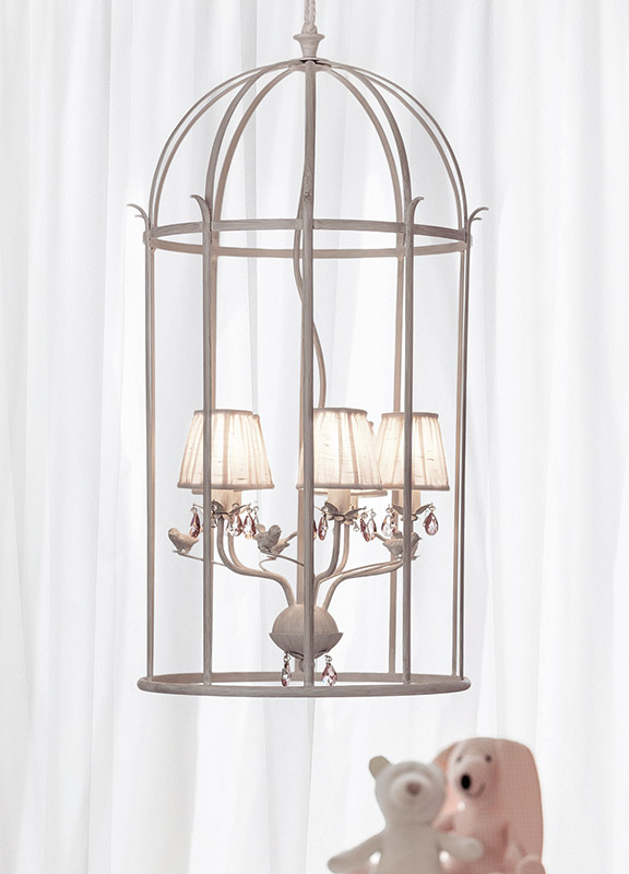 <strong>ML15</strong> birdcage chandelier, 5 lights ø 55 x H. 102 cm