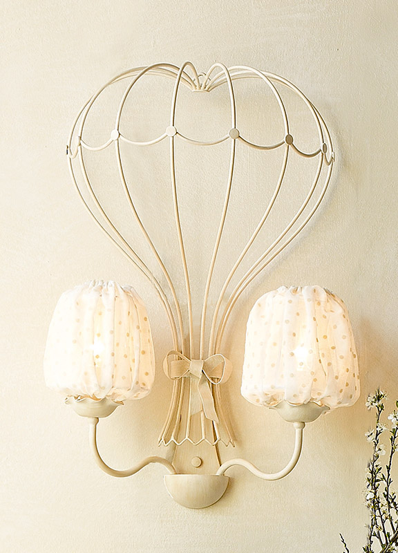 <strong>2038</strong> hot air balloon sconce, 2 lights 