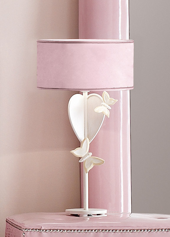<strong>2027</strong> table lamp with petals and butterflies