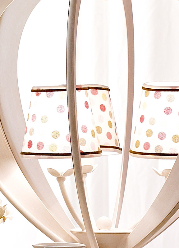 <strong>PAR05</strong> fabric lampshade with border