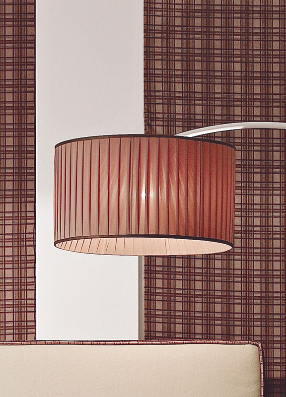 <strong>PAR08</strong> pleated round lampshade for floor lamp