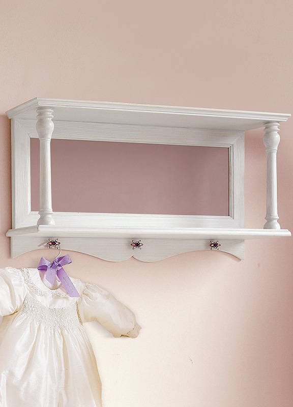 <strong>MT0100</strong> wall unit with lined bottom with FR04 small jewel knob L. 100 x P. 24 x H. 42,5 cm